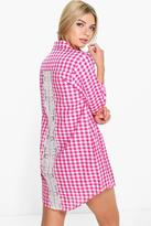 Boohoo Emilia Check Shirt Night Dress