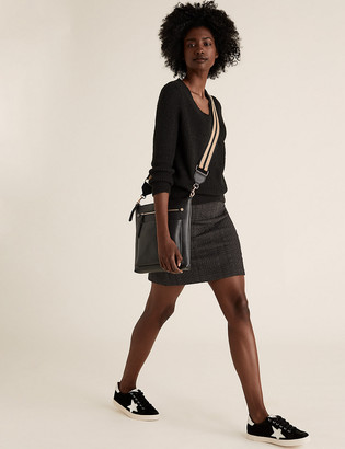 Marks and Spencer Jersey Textured Mini A-Line Skirt
