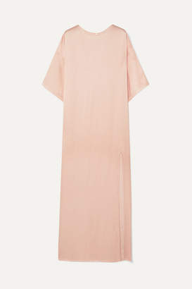 Paul & Joe Satin Maxi Dress - Pastel pink