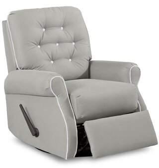 Wayfair Custom Upholstery Vinton Swivel Glider Recliner with Contrasting Welt