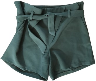 Bel Air Green Cotton Shorts for Women