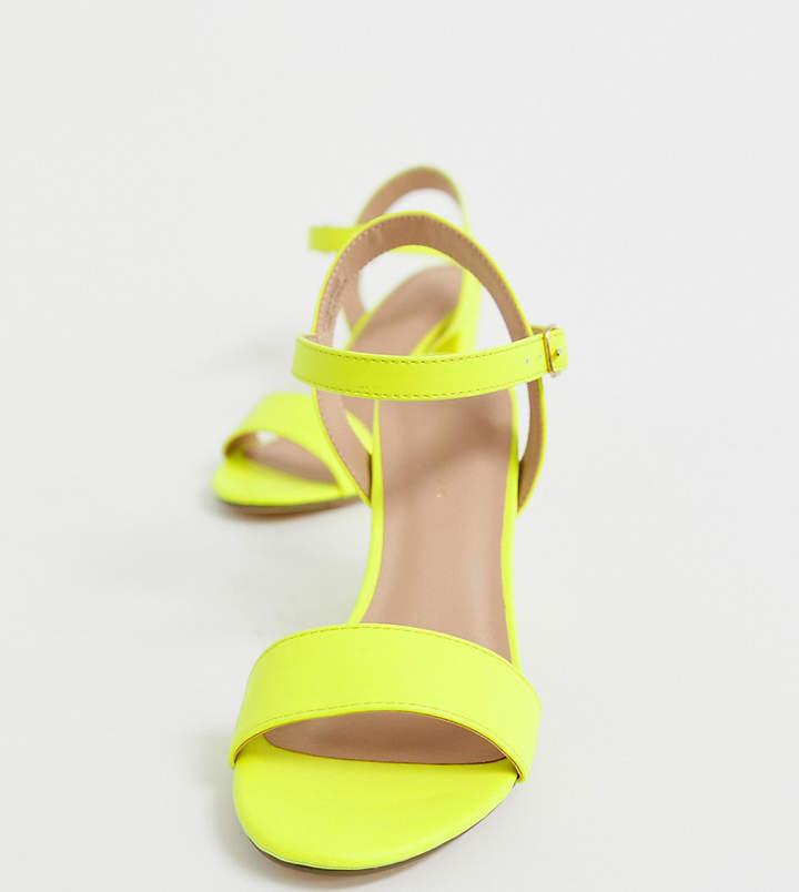 824e7492418 block heel in neon yellow