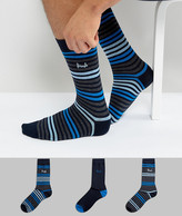 Pringle Socks In 3 Pack With Stripe