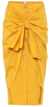 Johanna Ortiz Fresh Lemon stretch-cotton midi skirt