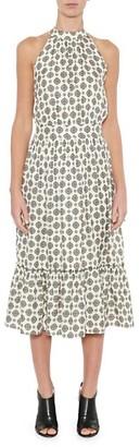 MICHAEL Michael Kors Lux Pin Tiered Midi Dress