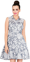 Betsey Johnson Night And Day Button Front Dress
