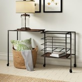 Laurèl Sandtown Iron and Wood End Table Foundry Modern Farmhouse