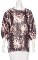 Rochas Oversize Floral Print Top