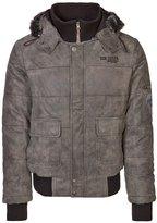 Tom Tailor Leather Jacket Anthrazit