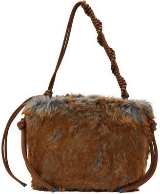 Dries Van Noten Fur tote bag