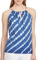 Chaps Sharla Tie-Dye Halter Top