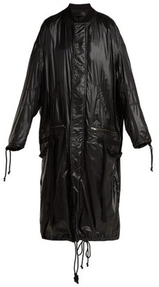Haider Ackermann High-shine Shell Coat - Womens - Black