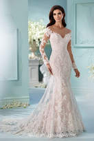 David Tutera for Mon Cheri Long Sleeve Gown