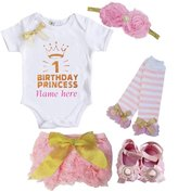 Kirei Sui 1st Birthday Princess Bodysuit Full Set