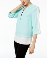 Calvin Klein Colorblocked Layered-Look Tunic