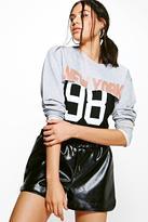boohoo Macie Sweat & T-Shirt 2 in 1 Top