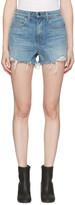 Alexander Wang Indigo Denim Bite Shorts