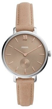 Fossil Women's Kalya Taupe Leather Strap Watch 36mm