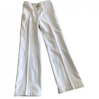 Paule Ka Beige Wool Trousers for Women