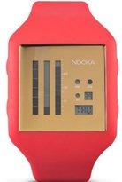 Nooka Unisex Zub Zenv 20 Fire Engine Red/Gold Watch ZUBZENVFG20