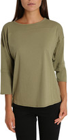 Blis Women's Tee Shirts Olive - Olive Three-Quarter Sleeve Dolman Lounge Top - Women & Plus