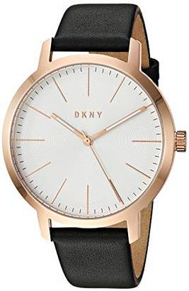 DKNY Men's The Modernist Stainless Steel Quartz Watch with Leather Strap