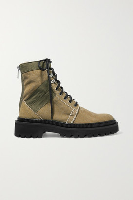 Balmain Ranger Canvas Ankle Boots - Army green
