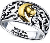 Unwritten Two-Tone Moon Message Ring in Sterling Silver