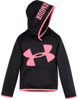 Kids Headquarters Girls' Preschool Under Armour Printed Big Logo Hoodie
