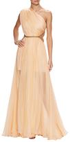 Maria Lucia Hohan Keisha Silk One Shoulder Gown