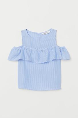H&M Open-shoulder Top - Blue