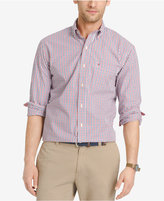 Izod Men's Big and Tall Check Long-Sleeve Shirt