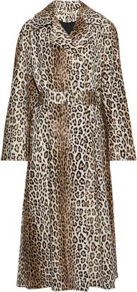 Emilia Wickstead Jill Belted Cotton-blend Faux Fur Coat