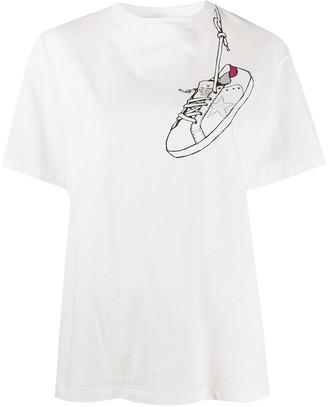 Golden Goose sneaker print cotton T-shirt
