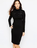 French Connection Ele Eyelet Midi Dress