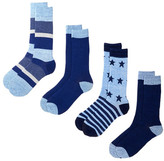 Lucky Brand Stars & Stripes Texture Crew Cut Socks - Pack of 4