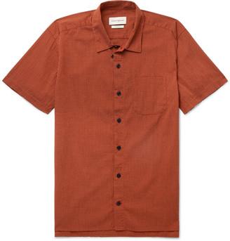 Oliver Spencer Camp-Collar Organic Cotton-Blend Seersucker Shirt