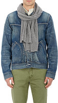 Barneys New York Men's Cashmere Stockinette-Stitched Scarf-GREY