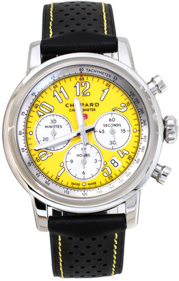 Chopard Yellow Stainless Steel Mille Miglia 8589 Men's Wristwatch 42 mm
