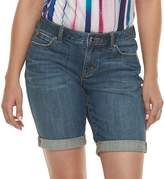 JLO by Jennifer Lopez Women's Cuffed Bermuda Jean Shorts