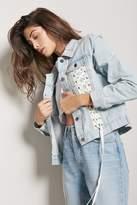 Forever 21 Lace-Up Denim Jacket