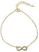 Journee Collection Women's Infinity Chain Bracelet in Sterling Silver - Gold