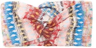 Missoni Mare - Metallic Crochet-knitted Headband - Womens - Pink Multi