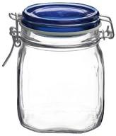 Bormioli Fido 2 Liter Canning Jar with Blue Lid