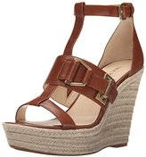 Nine West Women's Jellia Leather Wedge Sandal
