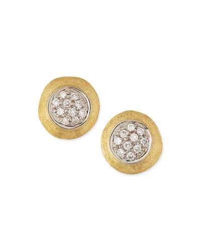 Marco Bicego Jaipur 18k Gold Diamond Stud Earrings