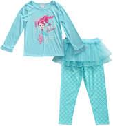Youngland Aqua 'Believe' Mermaid Pajama Set - Infant & Toddler