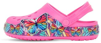 Crocs Butterfly Print Rubber