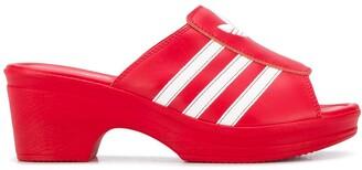 Adidas X Lotta Volkova Trefoil logo mules