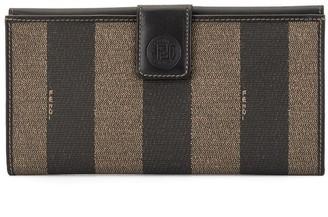 Fendi Pre Owned Striped Pattern Wallet